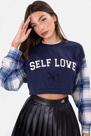 XO Color-Block Cropped Top