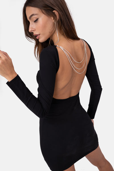 Glitz Chain Detail Mini Dress