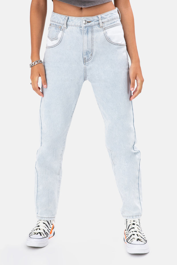 Sammy Contrast Pocket Jeans | MOM