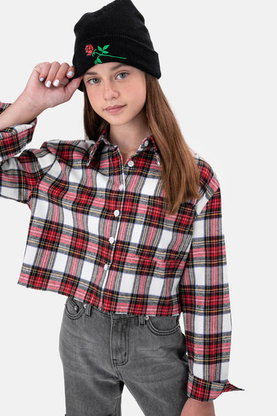 Mali Plaid Cropped Shirt