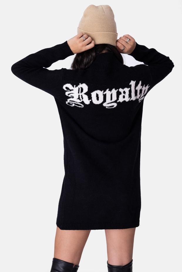 ROYALTY Knit Sweater Mini Dress
