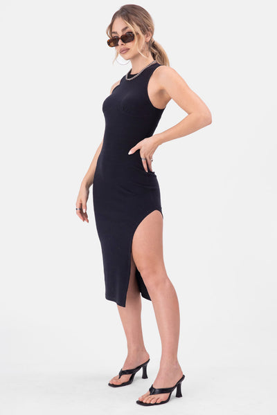 Garcia Side-Slit Midi Dress