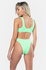 Shirred Cutout One Piece