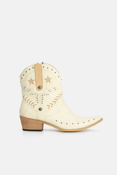 Brooksie Embellished Faux Leather Booties