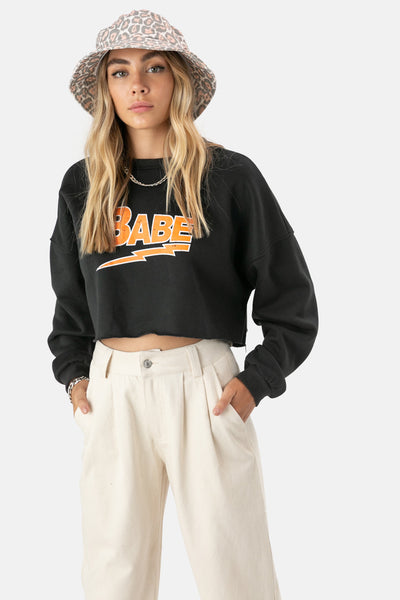BABE Cropped Sweater