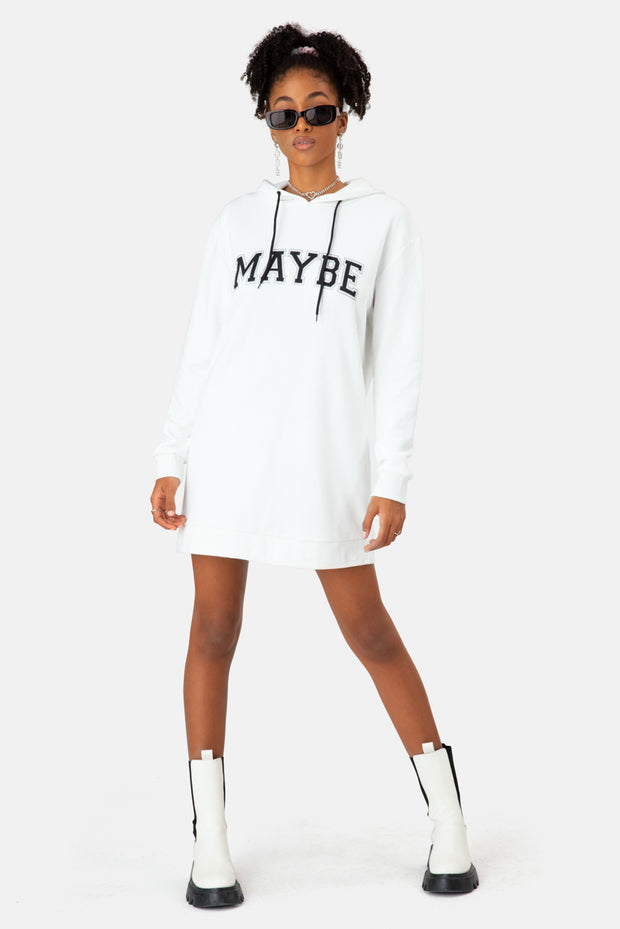 MAYBE Hoodie Dress