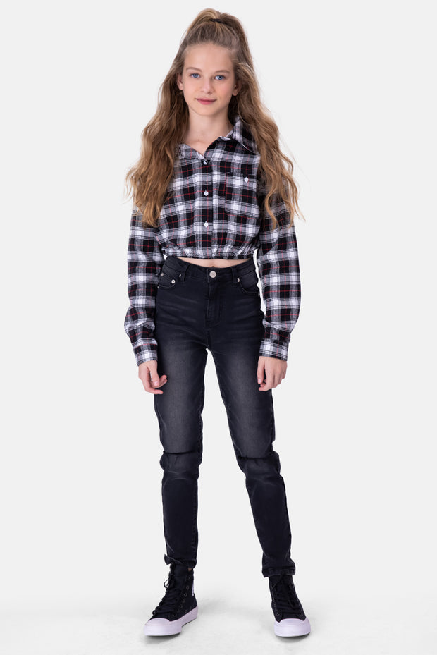 Lauren Cropped Button-Down Shirt