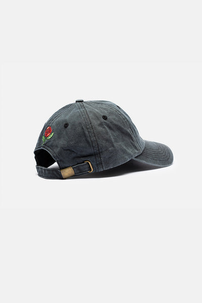 Rose Embroidery Washed Cap