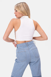 Aguilera Lace-Up Crop Top