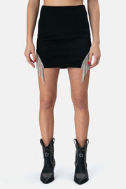 Solento Fringe Mini Skirt