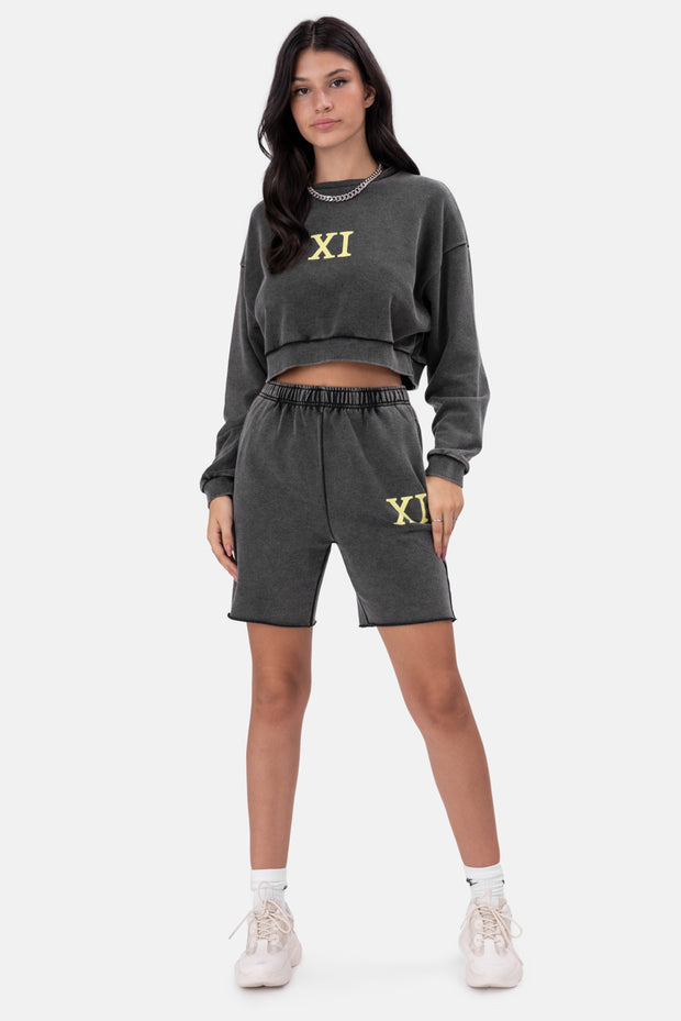 XI Washed Cropped Sweatshirt