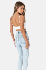 Cut Out Bodysuit with Crisscross