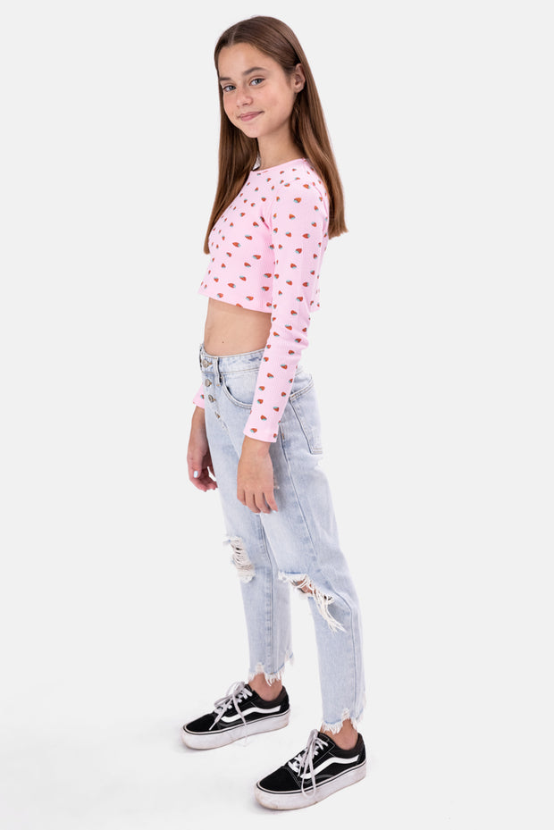 STRAWBERRY Cropped Top