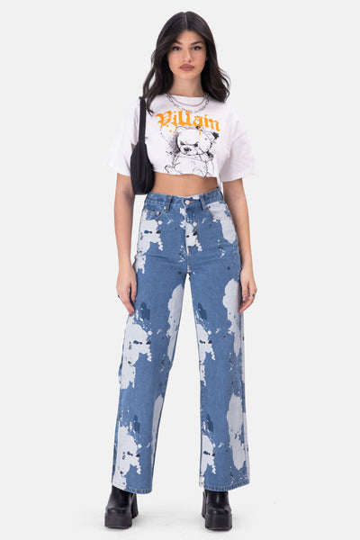 Pollock Paint-Splatter Jeans | WIDE