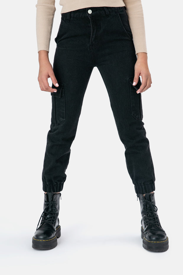 Aubrey Denim Cargo Pants