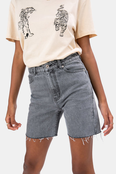 Blake Denim Biker Shorts