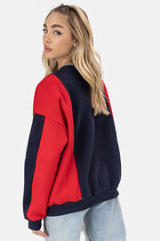 GOOD GIRL Color-Block Sweatshirt