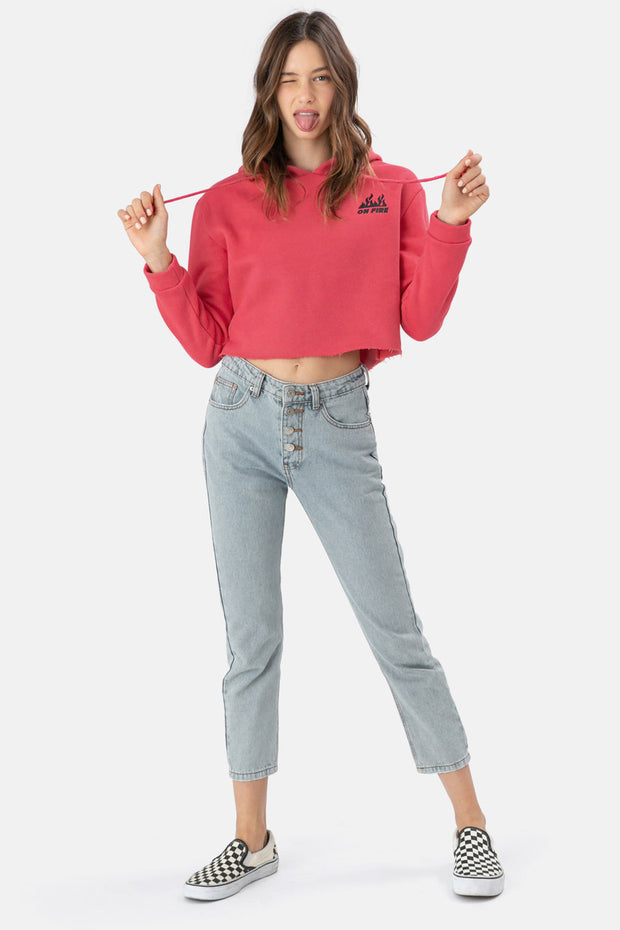 ON FIRE Cropped Hoodie