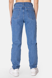 Rixie Reverse Frayed Seam Jeans | MOM