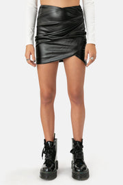 Kainley Faux Leather Skirt
