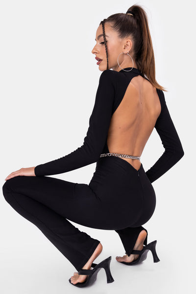 Sario Open-Back Jumpsuit