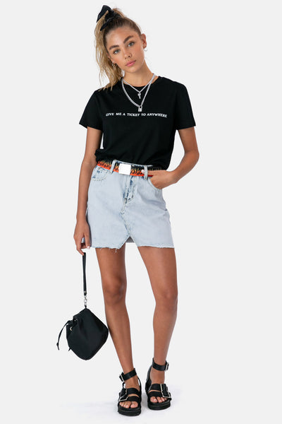 Bates Denim Skirt