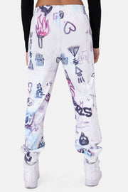 Dondi Graffiti Print Sweatpants