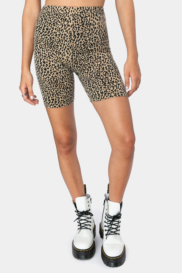 Hot Tiger Biker Shorts