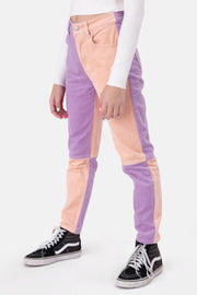 Sheina Color-Block Corduroy Pants