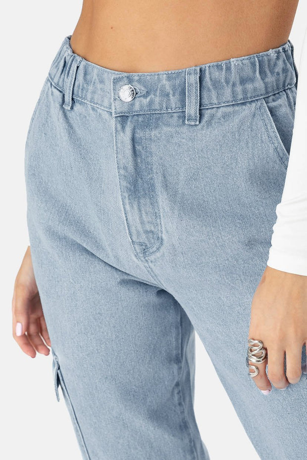 Sabine Denim Cargo Pants