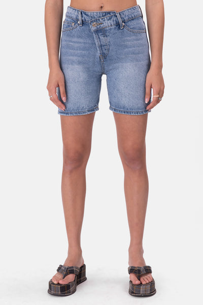 Willis Wrap Denim Shorts