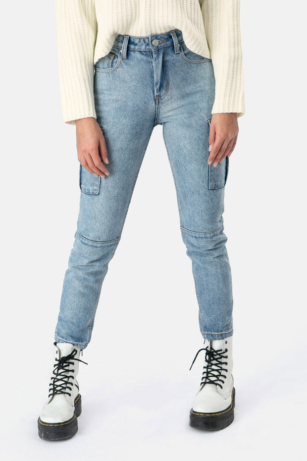 Beverly Denim Cargo Pants