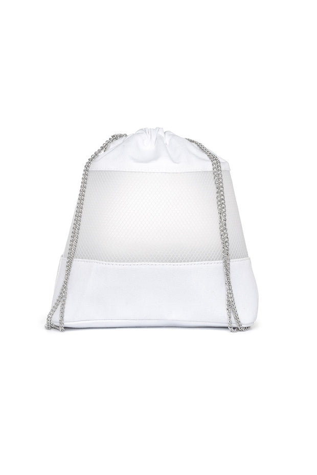 Sheer Mesh Drawstring Backpack