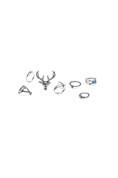 Rockvill Silver 7 Pack Rings