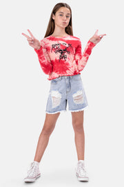 BAD Tie-Dye Cropped Tee
