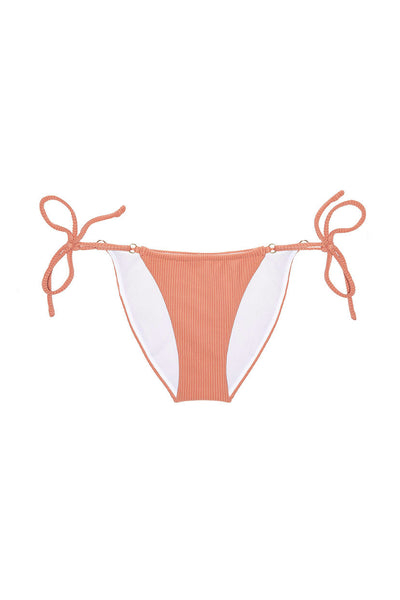 Ribbed Side Tie Bikini Bottom