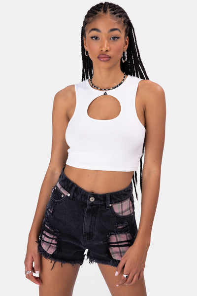 Tanks Cut-Out Cropped Top