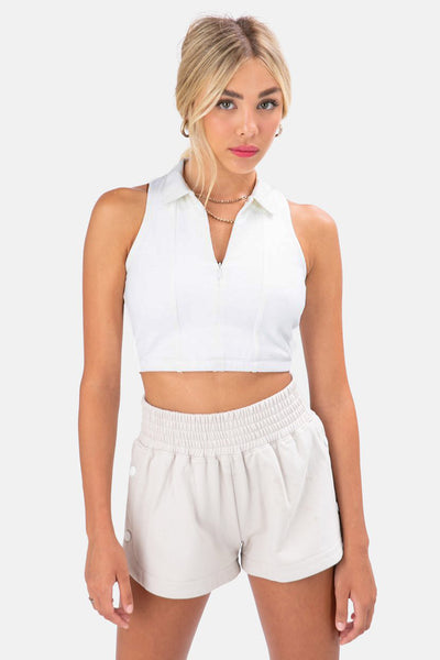 Kinsley Front Zip Crop Top