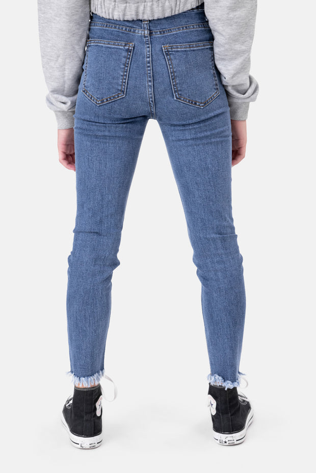 Amy Frayed Hem Washed Jeans