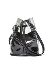 Hensely Transparent Bag with Gourmet Chain