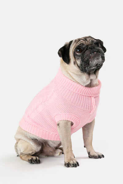 Pink-tini Turtleneck Dog Sweater