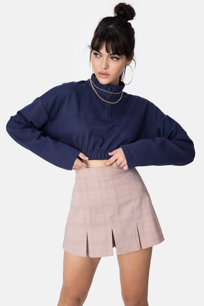 Glyde Front Zip Cropped Top