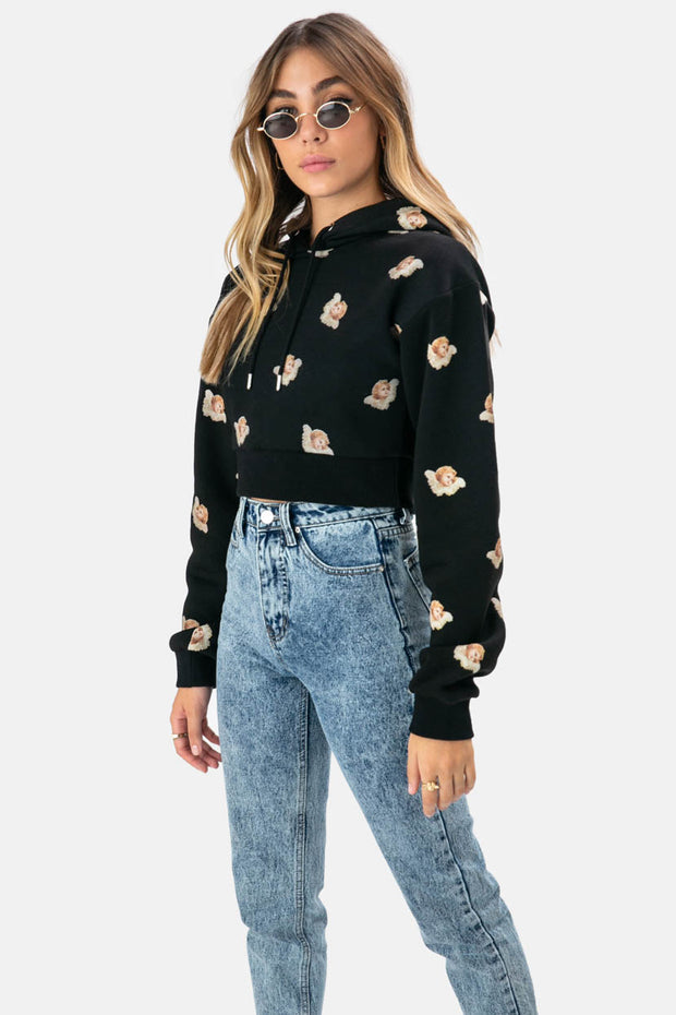 Guardian Angel Cropped Hoodie