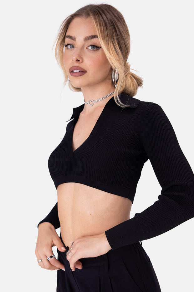 Mondo Rib Knit Crop Top