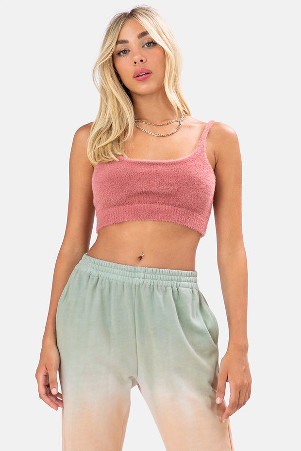 Animalz Fuzzy Crop Top