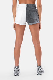 Winstor Color Block Denim Shorts