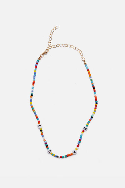 LOVE Beaded Choker