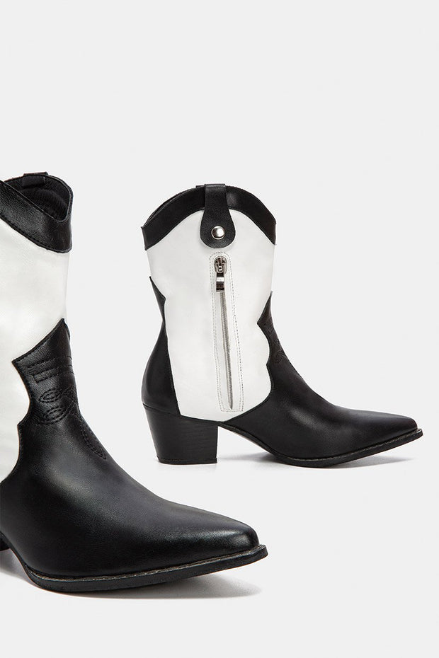 Sancho Faux Leather Boots