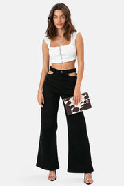 Harper Cut-Out Jeans | WIDE