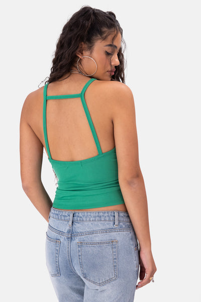Blade Cut-Out Ribbed Top